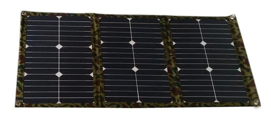 Kit chargeur de panneau solaire se pliant portatif de tissu de 54 watts de panneau solaire pour la batterie 12V pour la caravane de camping-car