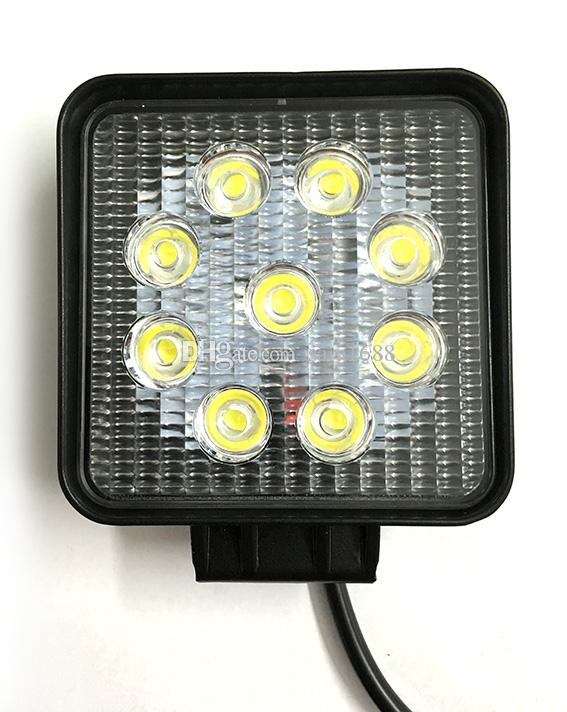 free shipping 4 inch 27 w led light , auto led work light, led tractor working lights