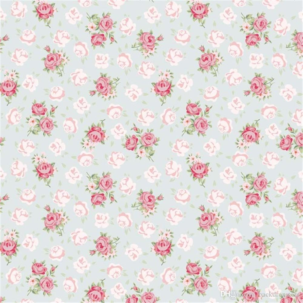 Computer Printed Pink Flowers Wall Photography Backdrops Vinyl Fabric Baby Newborn Photo Shoot Wallpaper Prop Studio Photographic Background