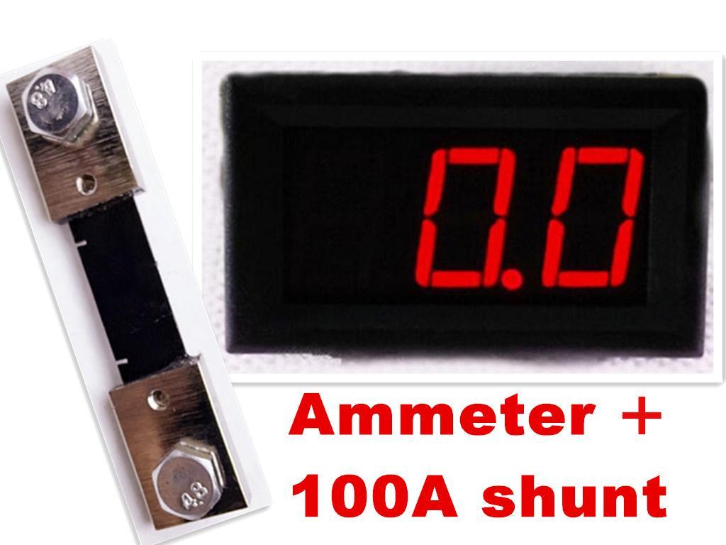 """10 conjuntos de 100A resistor de derivação para Amperímetro Amperímetro + 0.56 """"DC 0.0-100A Red LED digital display atual Amp tester carro"""