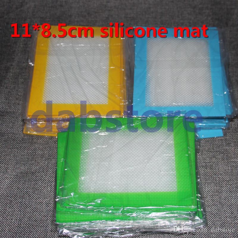 Atacadista Platinum Curado Antiaderente BHO Silicone Dab Mat Pad frascos Slab Dabber Para Assar Cera 11 * 8.5 cm Concentrado Esteiras Almofadas FDA Aprovado