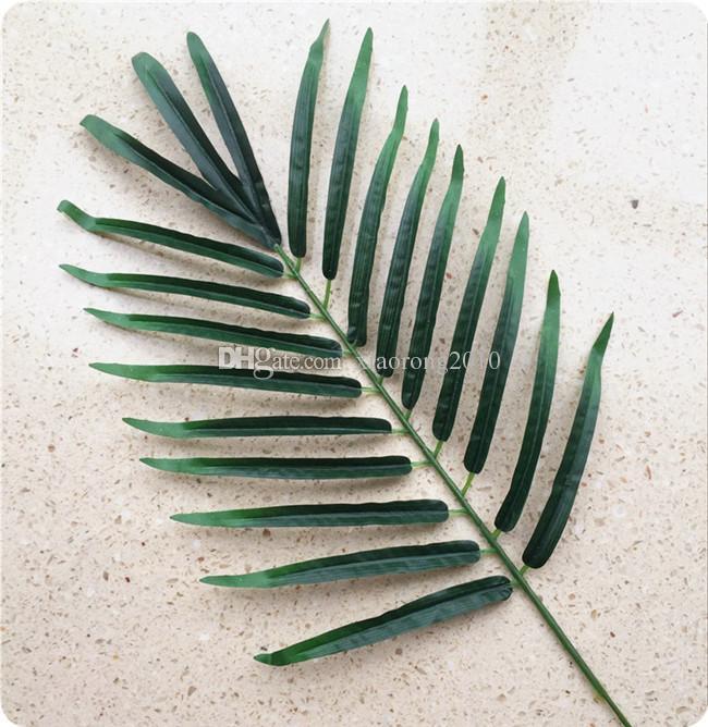 12 Unids 52 cm Simulación de Plantas de Seda Artificial Hoja Verde Hoja de Palmera para Arreglos Florales Decoración Del Hogar