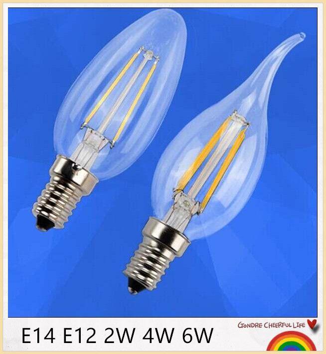 En gros - 2W 4W 6W E14 E27 LED bougie Ampoules Lumières chaud / Blanc haute luminosité Led spot non Baissable AC85-265V CE ROHS