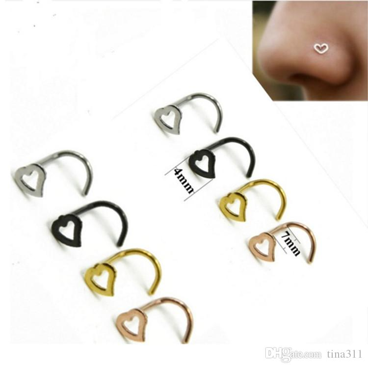 New Nose Rings Body Piercing Jewelry Fashion Jewelry Stainless steel Nose Hoop Ring Nose Rings Piercing Rings CC623