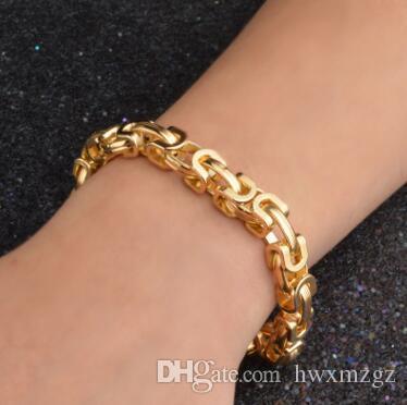 Corea exquisita pulsera de oro de 18 quilates de moda