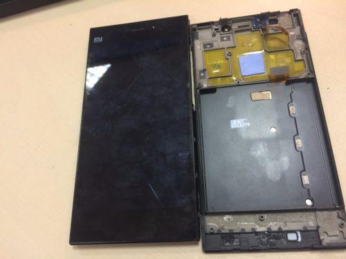 Full LCD display Touch screen + Frame assembly for Xiaomi Mi3 Black