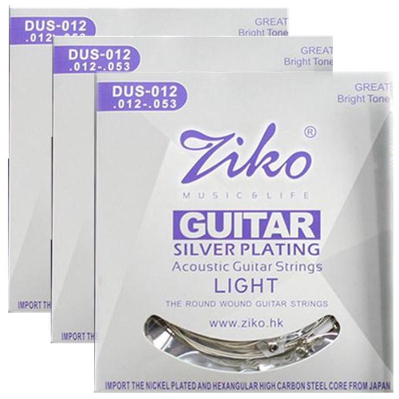 3sets / lot 012-053 D6027 Cordes de guitare acoustique parties de guitare instruments de musique en gros Accessoires