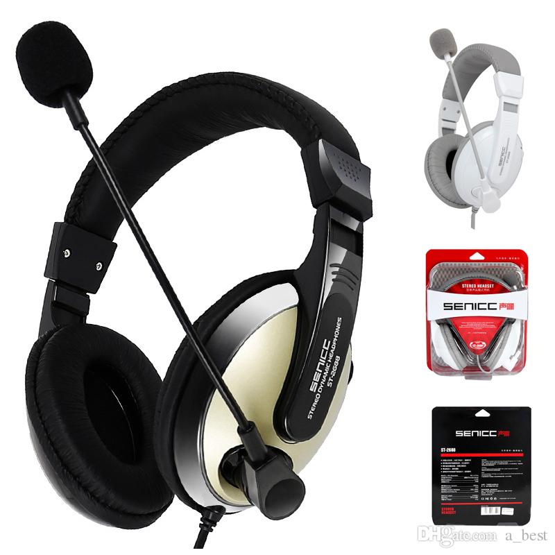 Newest Gaming Headset Headphone Earphone St 2688 Headphones Stereo Music With Microphone 3 5mm Plug For Mobile Phone Pc With Retail Package Bluetooth Headphones For Cell Phones Headsets For Cell Phones From A Best