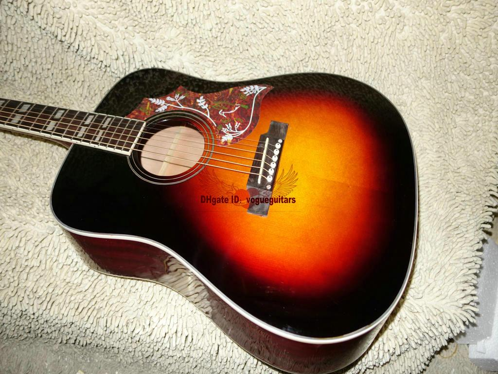 New Arrival Honey Burst Acoustic Guitar Best Musical instruments Free Shipping