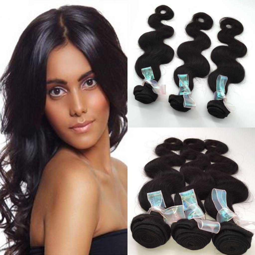 Необработанные девственницы перуанский волна тела пучки волос горячее надувательство волос Продукты человеческих волос 3 шт. лот