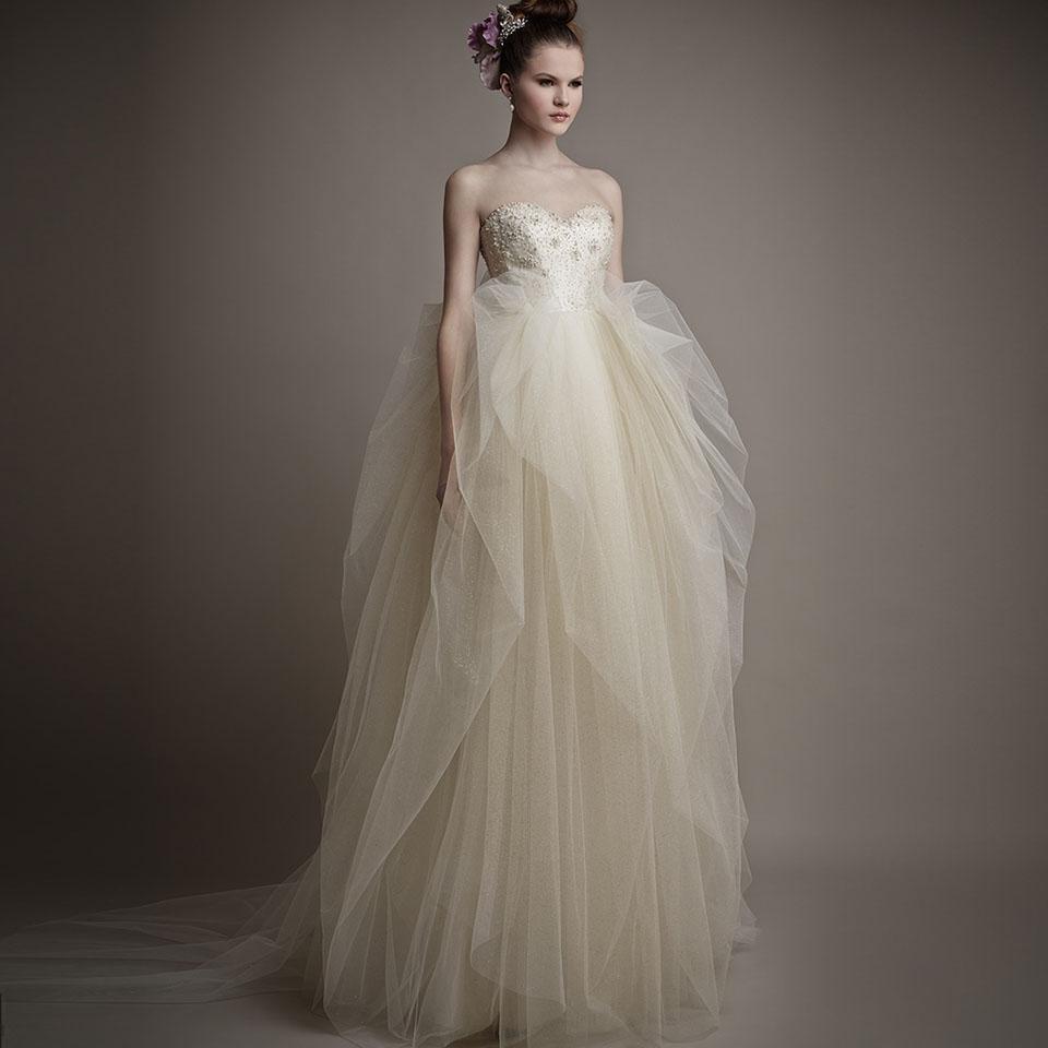 전문 디자이너 새로운 브랜드 웨딩 가운 Beadings 볼 Organza 우편 뒤로 어깨 좋은 품질 웨딩 드레스 떨어져