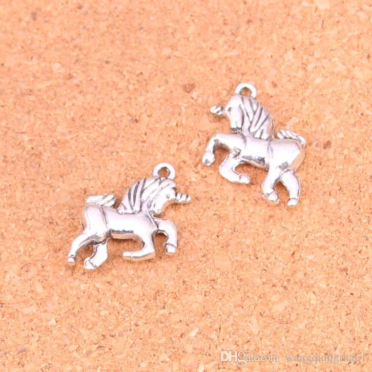 Set of 10 Enamel Unicorn Charm,16*30 Colorful Horse Charm Zinc Alloy Silver Wild Horse Charm Pendants For DIY Earring Necklace Findings
