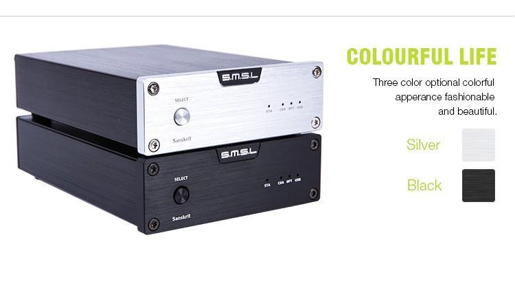 SMSL Latest 6th Sanskrit USB DAC 32BIT192Khz Coaxial SPDIF Optical Hifi Audio Amplifier Decoder New Version With Power Adapter 4