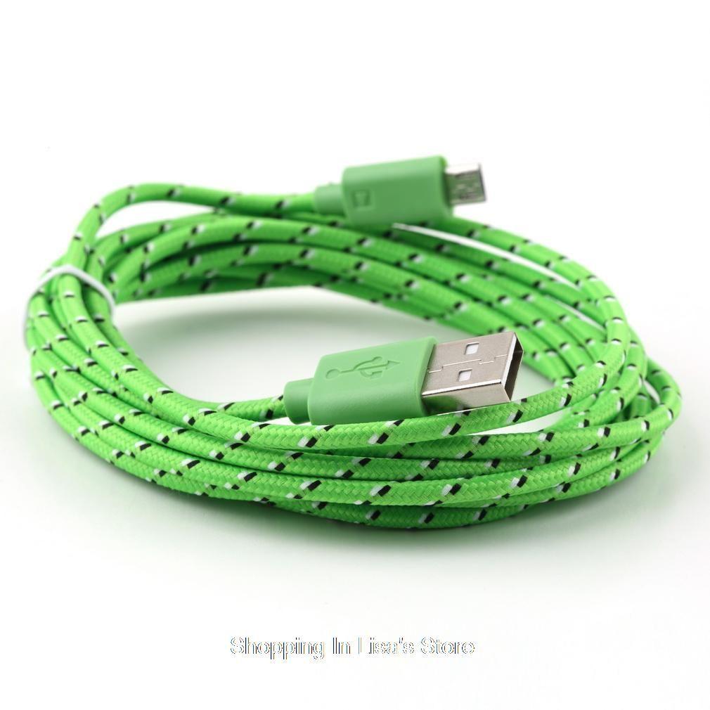 스마트 폰 충전기 어댑터 케이블 코드를 충전 3M / 10 피트 높은 품질 다채로운 와이어 5 핀의 USB 데이터 동기화