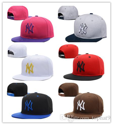 Wholesale new brand NEW YORK brim Baseball cap LA dodge hat classic Sun hat spring and summer casual fashion outdoor sports baseball cap
