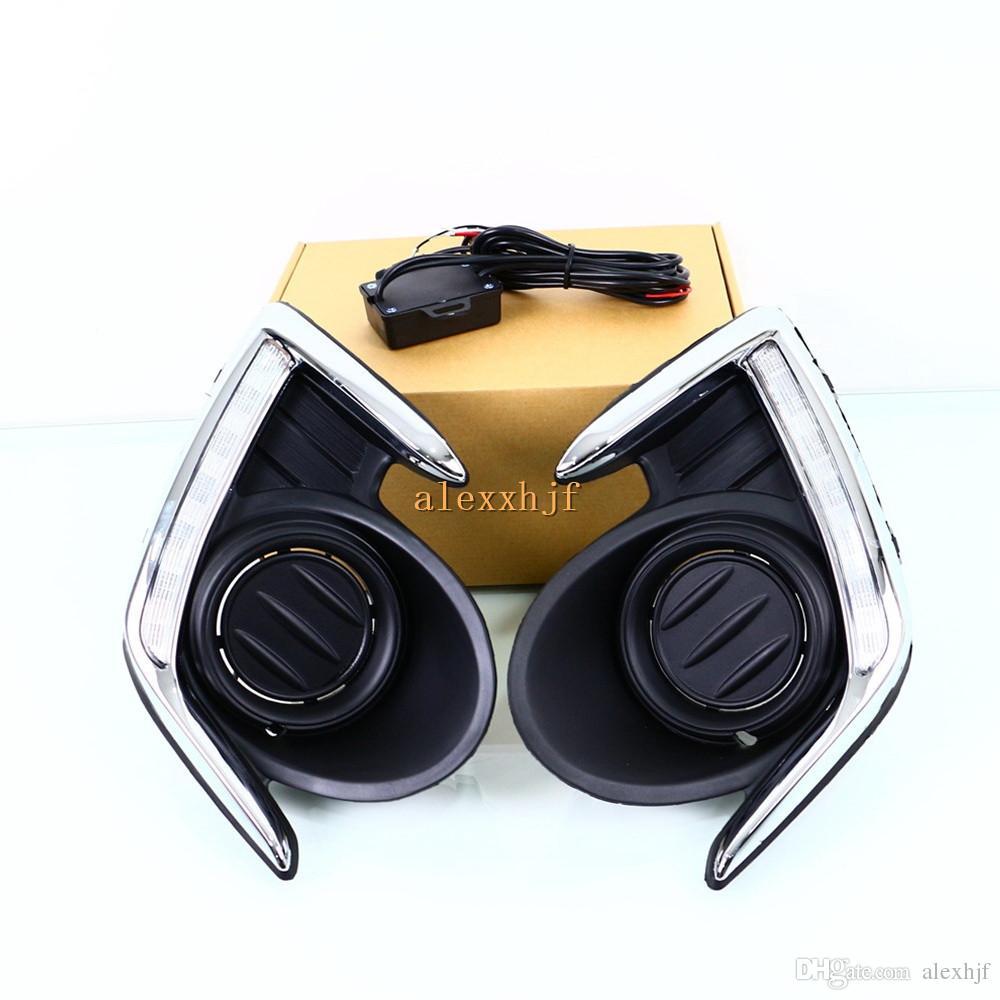 LED DRL Gündüz Farları Mitsubishi Attrage G4 2012 ~ 15, Sis Far Kapağı ile LED Ön Tampon DRL, Yedek