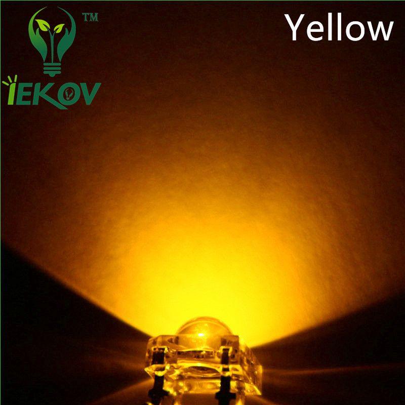 5 x LED 5mm Dome Superflux Yellow Gold Piranha LEDs Sign Car Lights Super Flux