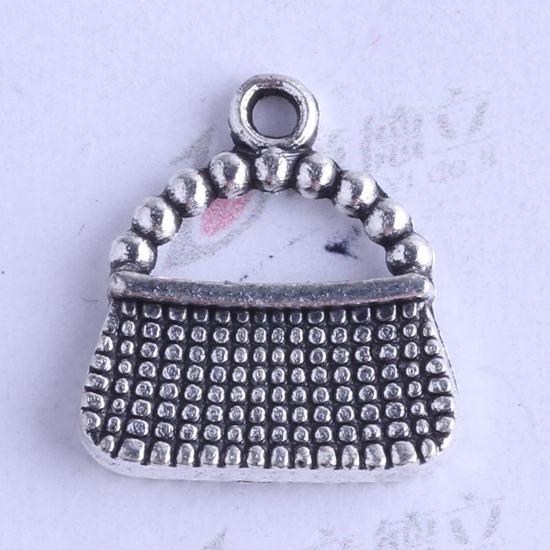 Mini sacs charme antique argent / bronze en alliage de Zinc 16.3 * 15mm pendentif DIY Bijoux fit Bracelets Collier 300pcs / lot 2496