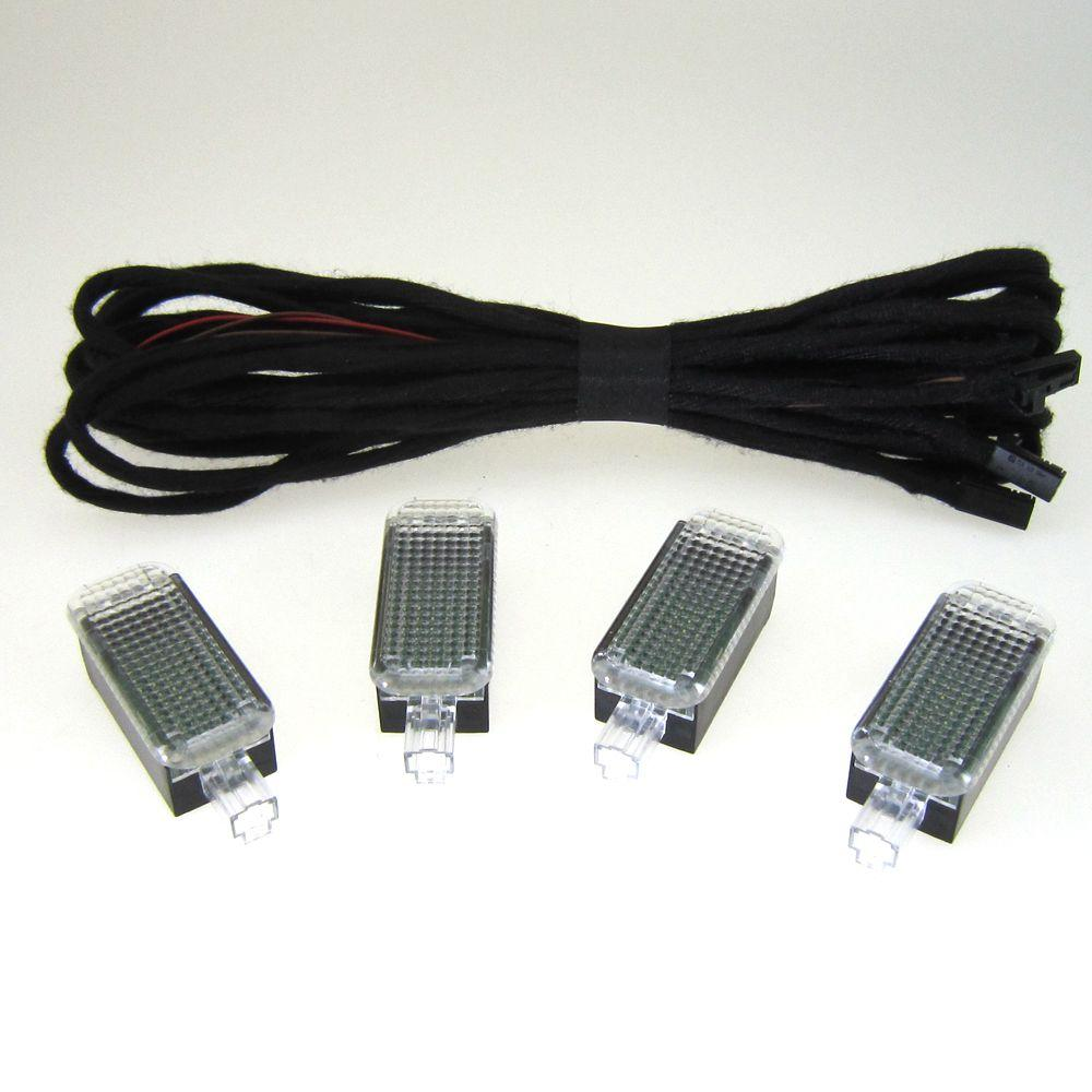 OEM 4Pcs LED Câble Footwell Light pour VW Jetta Golf Passat Skoda Octavie Seat Leon 3AD 947 409 3AD947409 3AD-947-409