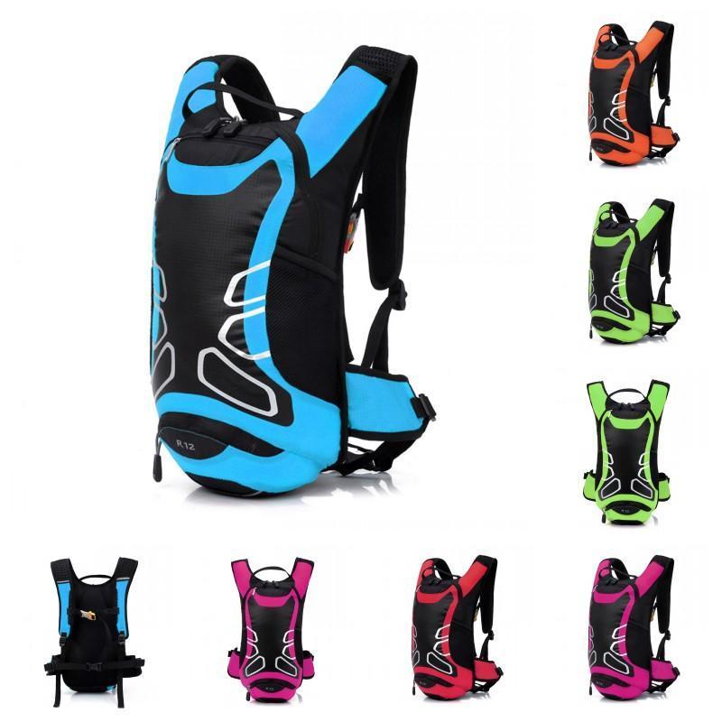 새로운 12L 초경량 방수 자전거 자전거 어깨 가방 배낭 스포츠 야외 자전거 타기 여행 등산 수화 워터 가방 H13228