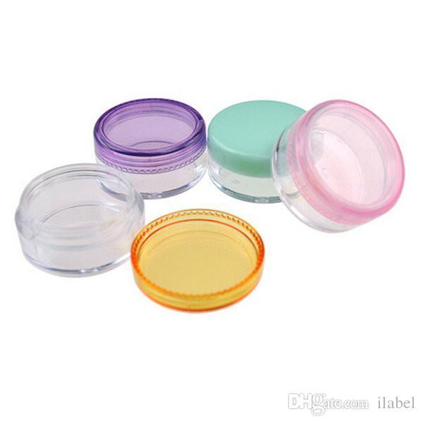 Scatole di crema di colore misto 5G 100PCS, vasetto per crema, vasetti per crema occhi, flaconi per ombretti, contenitori per cosmetici, flacone per campioni