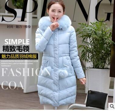 2016 autunno e inverno nuova giacca da donna in cotone lungo tratto femminile della giacca imbottita in cotone delle donne coreane