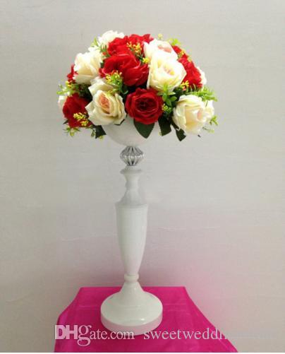 "Tall 50cm( 19.7"") White Wedding flower vase Wedding decoration Table Centerpiece Party Props 10pcs/lot"