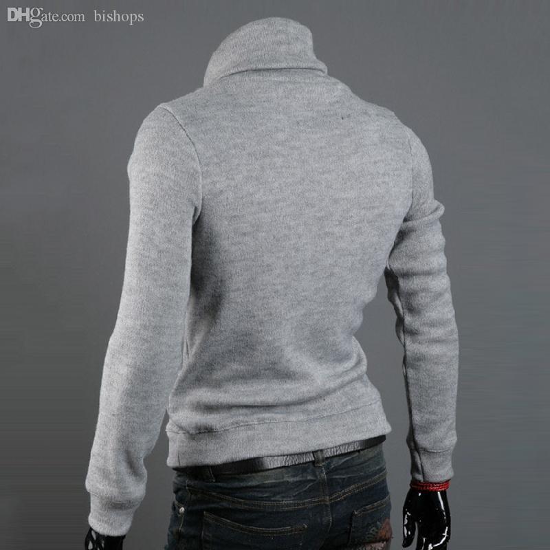 All'ingrosso-2016 autunno inverno pullover uomo dolcevita maglione lavorato a maglia mens casual maglioni ponticelli abbigliamento sudaderas pull homme