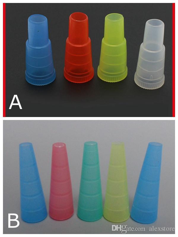Narghilè Shisha Test Finger Coperchio per tappo a goccia 510 Boccaglio monouso in plastica Suggerimenti per boccaglio Sano per e-narghilè Tubo singolo