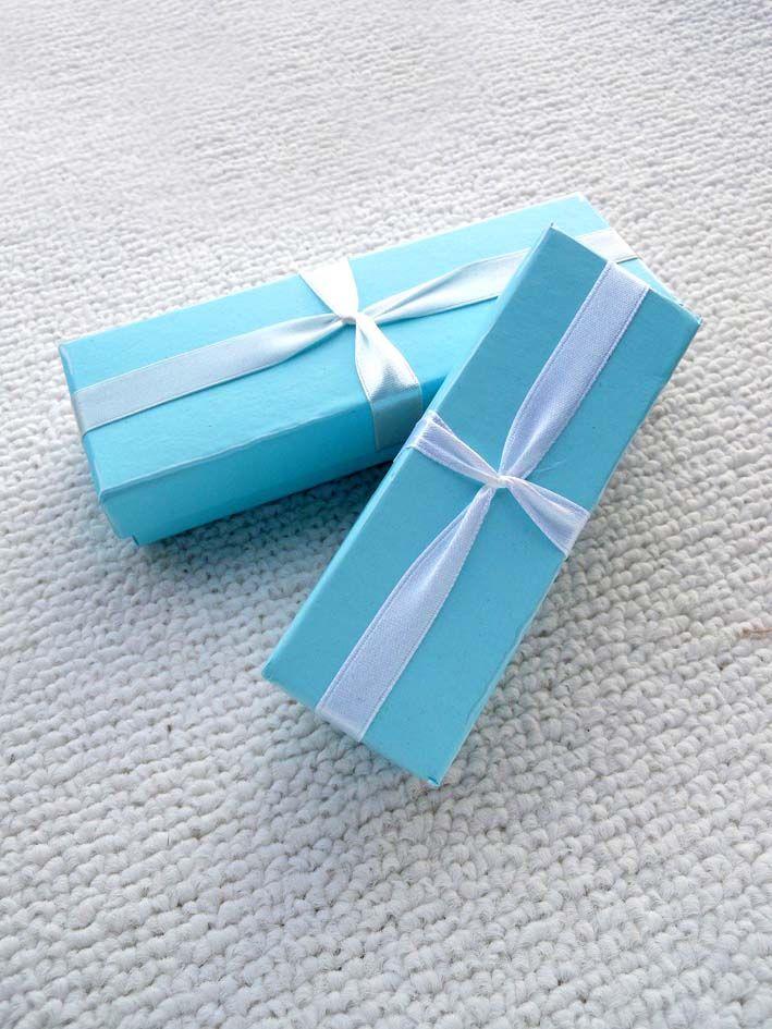 [Semplice Sette] / Bracciale display Exquisite Blue Sky Jewelry Box / cavigliera Cassa / collana scatola / confezione regalo per i monili delle donne (piccolo)