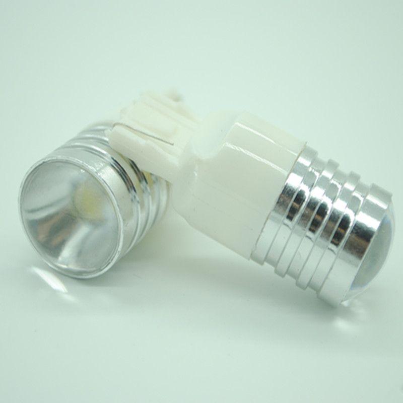 2PCS / LOT T20 7443 7440 W21W LED العارض الأبيض النسخ الاحتياطي لمبة ضوء السيارة الخلفي مصباح DIY حالة