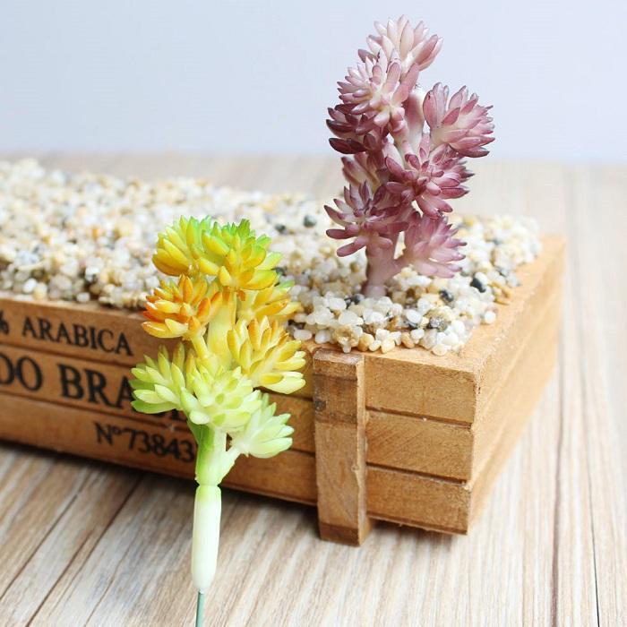 plante succulente artificielle herbe fleur de neige pour la maison de fête d'anniversaire de mariage artisanat décoration douche bricolage faveur bébé etc.
