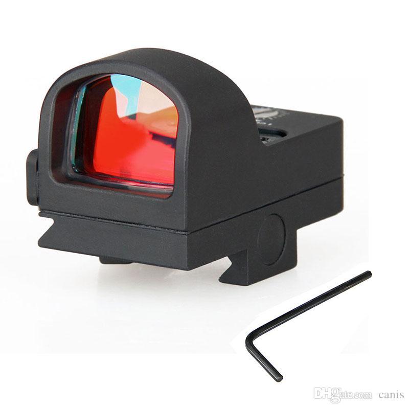 Canis Latrans Tactical Mini Rosso Dot Scope Ingrandimento 1x nero per il vero colpo d'uso del mirino CL2-0078