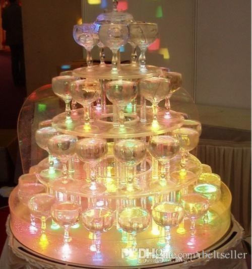 Hohe Qualität LED Leuchten Glow Ice Cubes Hochzeit Party Mittelstücke Decor Christmas Lights 240pcs / lot