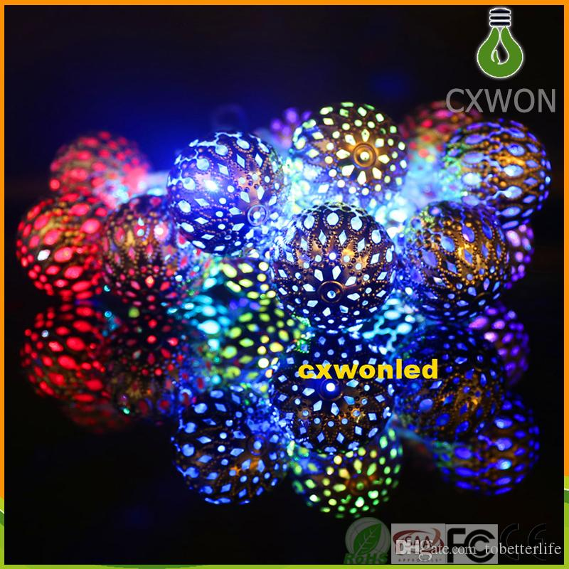 3w Battery operated 2M 20 LEDs 4.5v Lighting LED Ball String Lamp Transparent Wire Christmas Light Fairy Wedding Garden Pendant