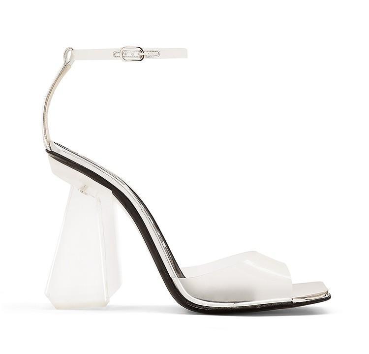 Summer 2016 new designer high-heeled shoes transapparent PVC crystal shoes Peep Toe Sandals