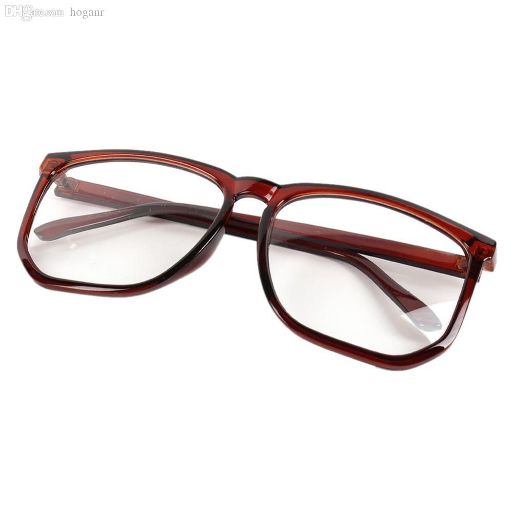 Atacado-Square Eyewear Quadro Unisex Mens Womens Clear Lens Nerd Geek Óculos Eyewear