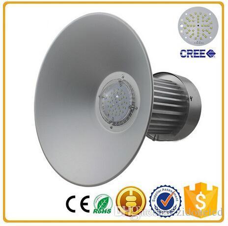 smd3535 LED haute baie lumière auvent de station de gaz industriel lumières 110lm / w cintre conduit haute baie luminaire AC85-265V