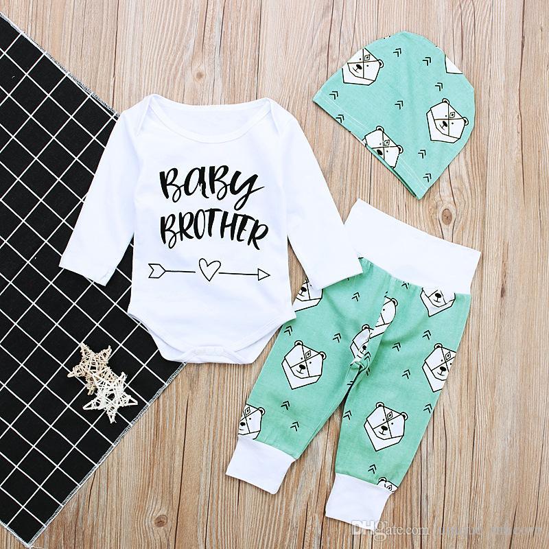 US Baby Boy Newborn Clothes Cotton Romper Bodysuit Pants Leggings Summer Outfit