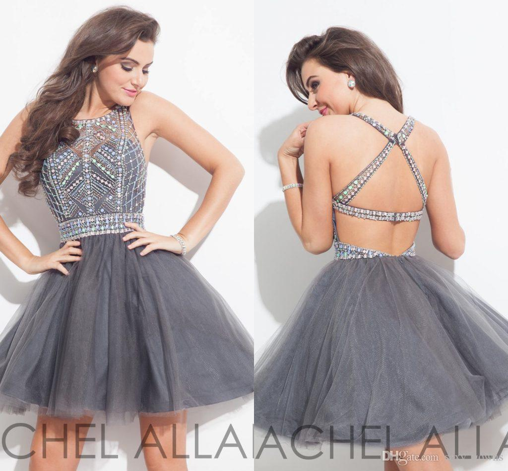 Elegant grey crystal 2016 homecoming dresses backless sexy tulle elegant grey crystal 2016 homecoming dresses backless sexy tulle beads mini short cocktail dresses party gown ball prom dress custom hy921 2018 from ombrellifo Choice Image