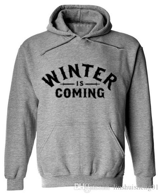 2017 autumn new funny style male man tracksuit Hip Hop fleece Mens Men sweatshirt Printed bodybuilding Winter Is Come hooded