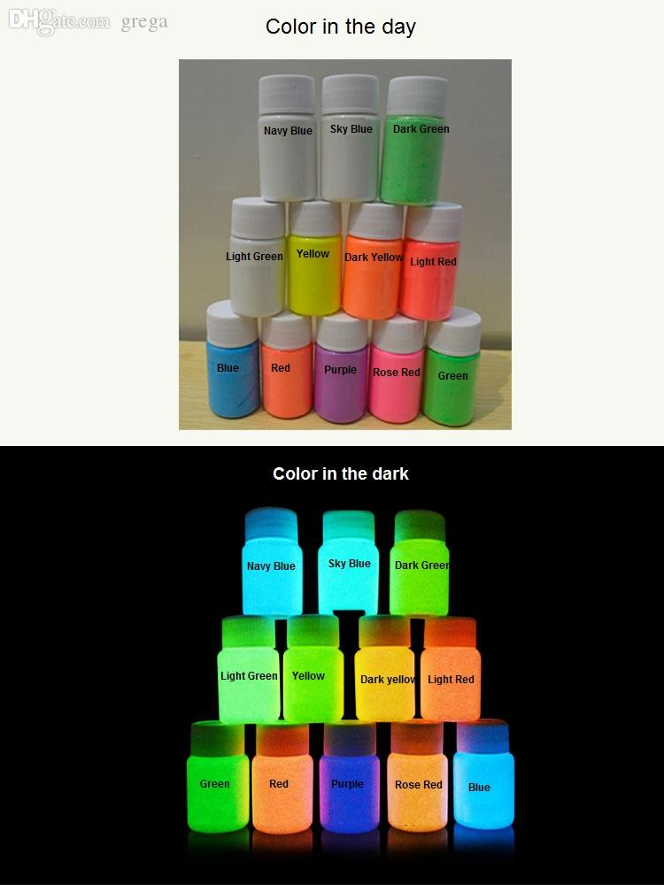 Wholesale-3pcs 25g Glowing Face Body Paint Glow In The Dark 12 Colors Lumious UV Acrylic Paints for Party & Halloween Body