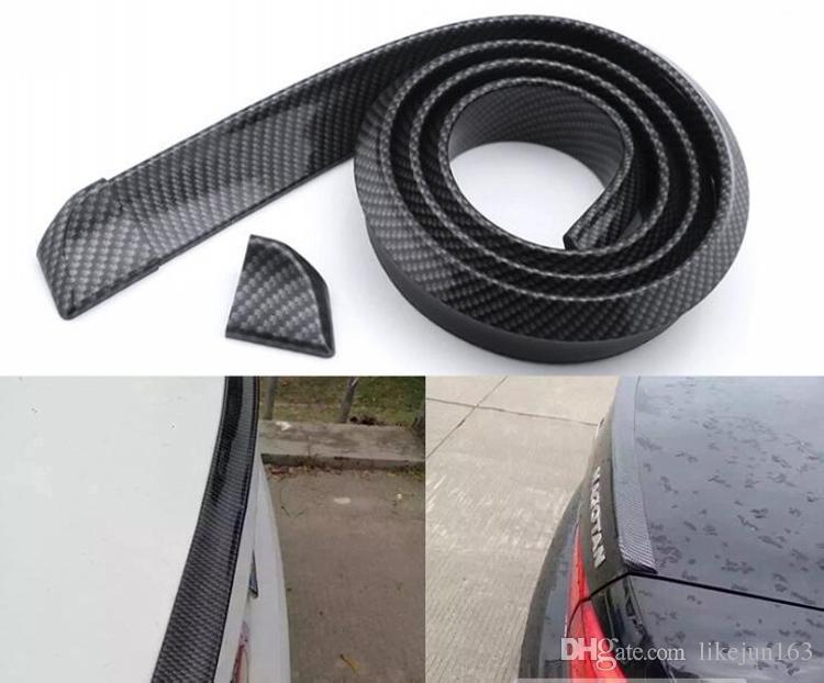 Kalite 1.5 M Karbon Fiber Evrensel Araba Kuyruk Spoiler Otomotiv Araba Styling Aksesuarları Dış Otomobil Parçaları