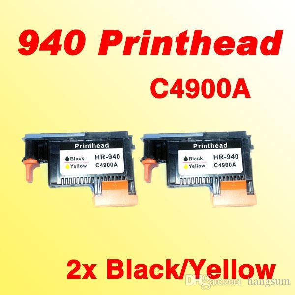 2x 940 testine di stampa neri per hp940 C4900A per HP 940 Pro 8000 testa 8500 8500A stampante