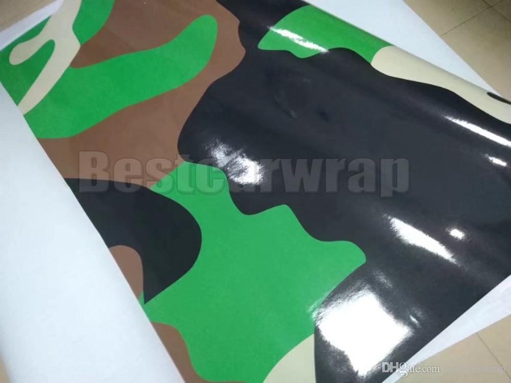 Grande Militar Camuflagem Vinil Para Carro Filme Wrap Com bolha de ar livre filme CAMO para Caminhão / barco gráficos Folha de 1.52X30 M (5x98ft)