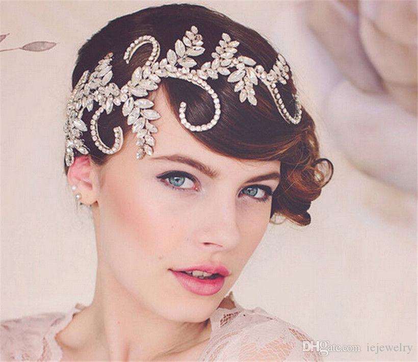 Mariage Vintage Front De Mariée Couronne Cristal Strass Diadème Bandeau Accessoires De Cheveux Bijoux Coiffure Casque