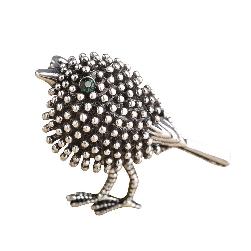 Vivid Prata cor de ouro Bonito Broches de Pássaro Para As Mulheres Crianças Presentes de Ano Novo Liga Contas Broches Pinos de Lapela Dicas Colar de Jóias
