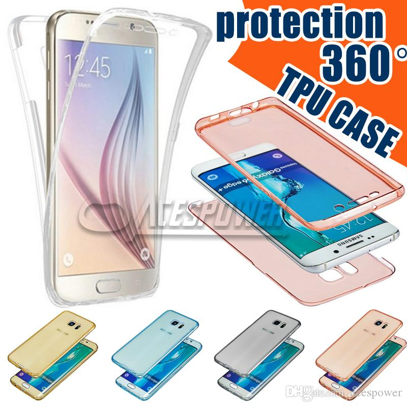 For Iphone 11 Pro MAX Case 360 Degree Full Body Front Back TPU cases For Samsung Note 10 Plus Transparent Clear Skin Cover