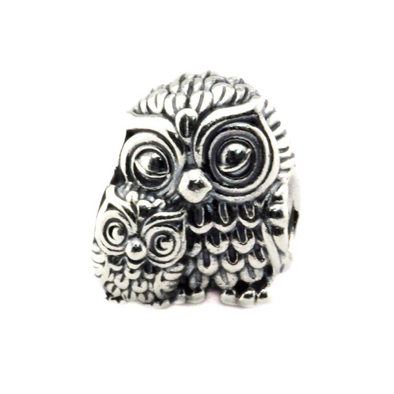 Serve para pulseira pandora 100% 925 grânulos de prata esterlina encantos corujas diy encantos mais novo autumen jóias wholesasle 1 pçs / lote