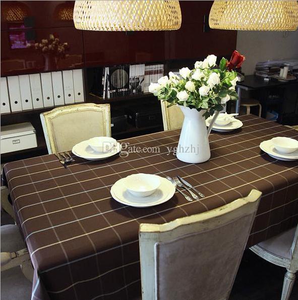 Atacado de café de pano de tabela da grade cor, Mianma Europeia Café Restaurante toalha de mesa, frete grátis Hotel toalha de mesa